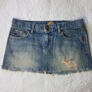 Abercrombie & Fitch Distressed Denim Jean Skirt 2